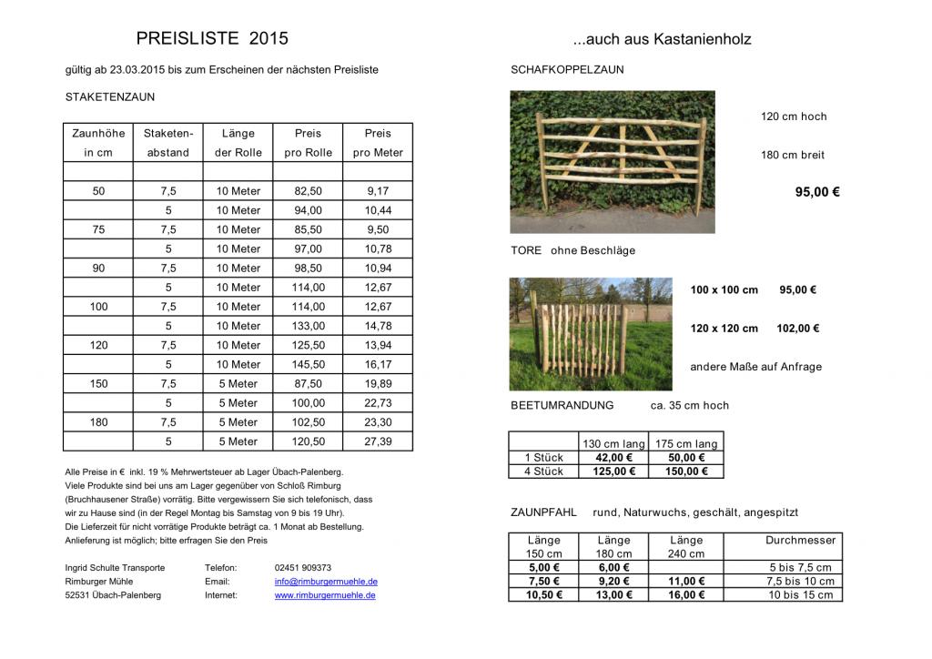 Preisliste_2015